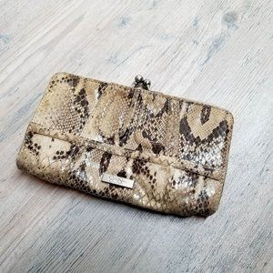 Snake Skin Leather Wallet. Perfect Condition!
